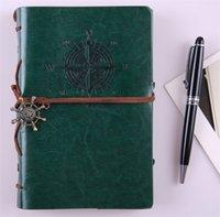 2017 Spirala Notebook Notebook Notatnik Vintage Pirat Kotwice PU Leather Note Note Książka Wymienna Papiernicze Prezent Podróżnik Dziennik 677 K2