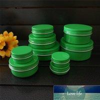 / 60/80/100 / 150g Yeşil Boş Yuvarlak Alüminyum Kutu Metal Teneke Kutular Kozmetik Krem DIY Doldurulabilir Kavanoz Çay Alüminyum Pot