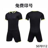 Men Adult soccer jersey short sleeve soccer shirts football uniforms shirt+shorts --S070112-2
