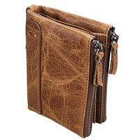 Wallets Luufan Genuine Leather Men Wallet Short Coin Purse Small Vintage Brand Designer