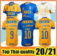 2020 Mexico UANL Tigres Soccer Jersey 7 Stars C.SALCEDO GIGNAC VARGAS PIZARRO football jersey Kids kit Camiseta de Tigres UANL 20/21 Liga MX