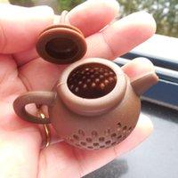 شاي سيليكون infuser إبريق الشاي شكل قابلة لإعادة الاستخدام مرشح الشاي الناشر الرئيسية الشاي صانع اكسسوارات المطبخ 7 ألوان 174 S2