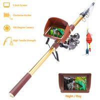Tiges à pêche en bateau Aniccom X5-90 Rod Cameras Finder 40M Ligne Caméra de poisson de haute qualité 8MP HD Sous-marine 90kg Tirez