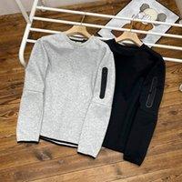 High-quality sweatshirt autumn new men's sleeve arm zipper round neck sweater! Space cotton fabric