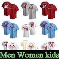 28 Nolan Arenado Jersey St. Louis Cardinal Jersey 46 Paul Goldschmidt 4 Yadier Molina 1 Ozzie Smith 25 Dexter Fowler Homem Personalizado