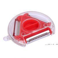 Rotatable 3In1 Tomato Potato Apple Peeler Vegetable Tools Cucumber Slicer Kitchen Gadget Accessories EWA8552