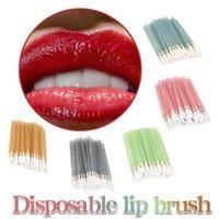 Eyelash Curler 50pc Disposable Makeup Brush Set Lip Wholesale Gloss Wands Applicator Women Eyelashes Make Up Tool Brushie Borstel