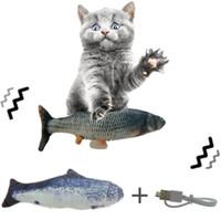 Electric Cat Toy 3D Рыба USB Зарядки Моделирование Рыбы Интерактивные Кошки Игрушки Для Кошек ПЭТ Игрушка Кошка Поставляет Интерактивные Танцы Рыба Игра
