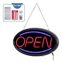 LED Open Sign Business Bar Neon Signs Werbung Board Elektrische Anzeige seufzend blinkte Steady für Bars Busines Walls Windows Shop Hotel
