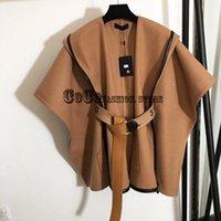 Kadın Yün Karışımları Lüks Tasarım 21 High Son Kadın Giysileri Mektubu Jakarlı Kemer Ceket Trençkot Vintage Şal Kadın Pelerin Pançolar ve Ja