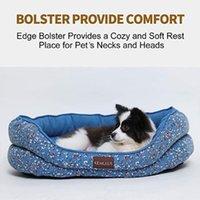 Kennels łóżko łóżko średniego psa Zmywalne okrągłe z napisowymi łóżkami kotów dla szczeniaka i kotka