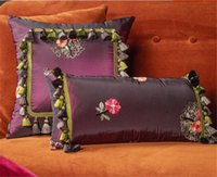 Luxury designer classic high-quality embroidered pillow case cushion cover size 40*40cm and 25*50cm tassel pendant decoration