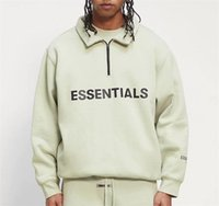 Nebel Angst vor Gott Essentials halber Zip Pullover Pullover High Neck Beiläufige Übergroße Pullover Jumper Männer Frauen Hip Hop Skateboard Streetwear