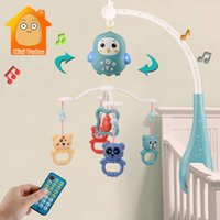 Baby Crib Mobil Rattl Music Educational Toys Bed Bell Carousel For Cots Infant Toy 0-12 Months Newborns67LW