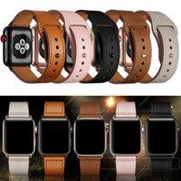 Alça de banda de luxo para assistir 5 4 3 2 loop para iwatch cinto 44mm 40mm 38mm 42mm couro moda nova pulseira pulseira acessório dhl transporte
