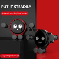 Cute Gravity Car Phone Holder Metal Auto Air Outlet Mobilephone Stander For 4.7-6.5 Inch Phone Invisibile Car Supporter