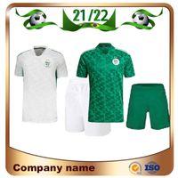 2021 Afrika Kupası Cezayir Çocuk Seti # 7 Mahrez Futbol Forması 21/22 Feghouli Brahimi BanaRi Bounedjah Çocuk Gömlek Atal Futbol Üniforması