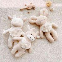 Ins-Cartoon-Rinder-Bär Elch-Kinder-Tuch-Puppe-Babykomfort-Spielzeug-Plüsch-Puppe