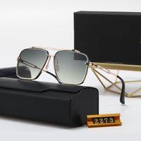 Designer di alta qualità Top New Dita Fashion Sunglasses 2273 Uomo Donna Casual Occhiali Casual Brand Sun Lenses Personalità Eyewear con scatola scatola