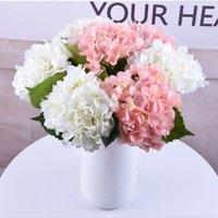 16 couleurs 47cm Hydrangea artificielle fleur fausse soie simple single touche réel pour mariage pièces de mariée fête décorative fleur mer expédition LLA500