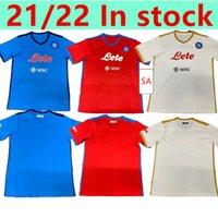 21 22 Napoli Soccer Jersey Nápoles Camisa de futebol Koulibaly Camiseta de Fútbol Insigne Maradona Maillot Foot Mertens Camisa