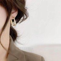 Hoop & Huggie 2021 Tide Restoring Ancient Ways Of Fashion Simple Metal Square Senior Charm Temperament Earrings
