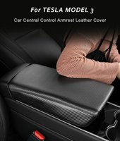 Copertura protettiva della scatola del bracciolo interno dell'automobile per il modello Tesla Modello 3 e il modello Tesla Y 2017-2020 Copertura del bracciolo del bracciolo di controllo centrale