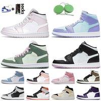 nike air jordan 1 retro 1 2020 Yeni 1 Bio Hack Işık Smok Orta Basketbol Ayakkabı DIO Erkekler kadınların İlk 3 Saten Yılan Fearless 1s Arkalık Kraliyet Mavi Sneakers jumpman
