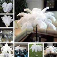 Decoración de la fiesta de la salida de la fábrica 50pcs / lot 6-26 pulgada avestruz pluma pluma blanco pluma mesa centro de la boda Desktop Decora P5oa