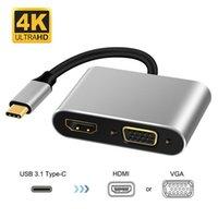 Type-C Connector to 4K HDMI-compatible VGA USB C 3.0 Hub Adapter for MacBook Nintendo Samsung S20 Dex Huawei Matebook Xiaomi 10 TV