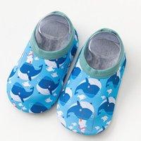 Socks Fashion Baby Floor Girls Boys Cute Cartoon Non-slip Cotton Toddler Elastic First Walker Shoes For Borns 1-3 Years