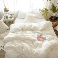 Plush quilt cover single mink double side Plush flannel bed sheet winter coral velvet quilt cover lamb crystal