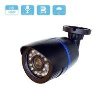 كامل عالية الدقة الصوت 1080P 2MP السلكية سوني IMX307 الاستشعار مايكرو SD / TF فتحة بطاقة IP كاميرا Onvif H.265 للرؤية الليلية الأمن CCTV