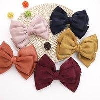 New Bow hair clip 5 color Girl Velvet bow hair pins Fashion Korean college style hairpin spring clip hair accessories Wholesale