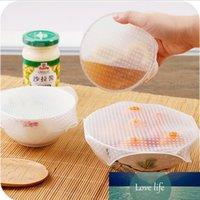 4pcs / 세트 재사용 가능한 실리콘 스트레치 뚜껑 그릇 식품 커버 진공 포장 씰 식품 저장 용기 커버 신선한 유지 뚜껑 주방