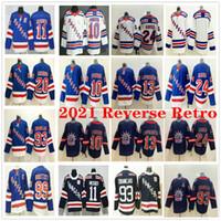 2021 Retro Retro Rangers de Nueva York Artemi Panarin Kaapo Kakko Alexis Lafreniere Mark Messier Kreider Mika Zibanejad Wayne Gretzky Jerseys