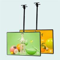 Affiche de restaurant Publicité Afficher Menu de suspension Lightbox H50 * W70CM avec pack d'étuis en bois graphique imprimé personnalisé