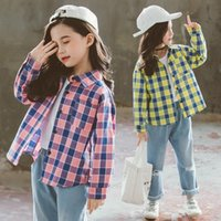 Shirts Teenage School Girls Blouses Long Sleeve Plaid Shirt Cotton Kids And For 12 Years Toddler Clothes Autumn