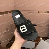 En kaliteli erkek kadının kauçuk terlik slaytlar sandalet ayakkabı yaz plaj açık serin terlik moda geniş düz flip flop kutusu ile 35-45
