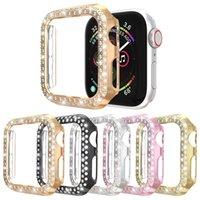 Étui de la femme Femmes pour femmes pour Apple Watch Série SE série 6 5 4 3 2 1 Couverture PC Diamond Protector Protecteur Fit Iwatch 40mm 44mm 38mm 38mm Accessoires 42mm