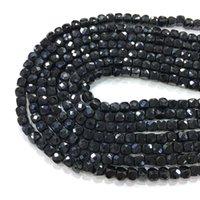 Quadrado Preto Espinha Beads 4-5mm Natural Gemstone Spacer Acessórios de Jóias Fazendo DIY Colar Pulseira de 15 polegadas Preço de Fábrica Q0531