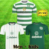 21 22 Jerseys de futebol Celtic McGregor Griffiths Sinclair Forrest Rogic Christie Home Terceiro 2021 2022 Camisa de Futebol Kit Kids Kit