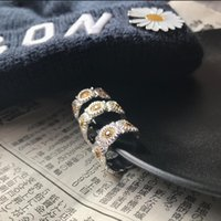 Small Daisy Diamond Hip Hop Ring Opening Adjustable Student Couple Jewelry GD Same Style