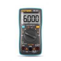 Indietro Multimetro digitale 6000 conteggi Zotek Light ZT102 AC / DC Ammeter Voltmetro Voltmetro Ohm Frequenza Temperatura di diodo