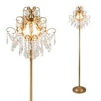 ضوء الكريستال الكلمة تركيبات الذهب المعادن lampada أضواء مع e14 لمبة مصباح الطابق غرفة المعيشة غرفة الطعام غرفة الطعام