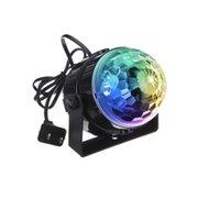 LED-Effekte IR-Fernbedienung LEDs Kristallzauberkugel 3W Mini RGB Bühnenbeleuchtungseffekt Lampe Birne Party Disco DJ Club Partys Licht Show Crestech