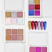 Nagelglitter Glänzende Nali-Palette Nicht-fliegende Pulver-Mode-Nägel Art Dekoration Werkzeuge Maniküre-Salon-Zubehör