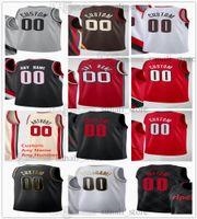 Jerseys de basquete impressos 11 Larry Nance Jr. Damian 0 Lillard CJ 3 McCollum Norman Powell Jusuf 27 Nurkic 23 Robert Covington 17 Tony Snell 40 Cody Zeller Dennis Smith