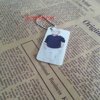 Bone sublimation keychains aluminum round hot Rectangle transfer printing diy custom blank material two sides can be pri