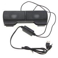 PLEXTONE 1 Pair Mini Portable Clipon USB Stereo Speakers line Controller Soundbar Laptop Mp3 Phone Music Player PC with Clip